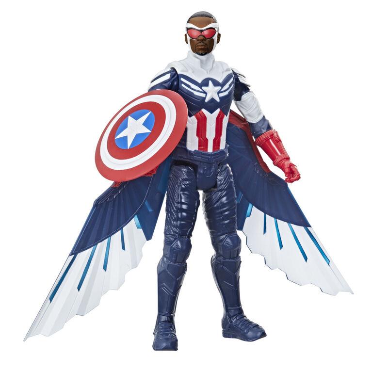 Marvel Studios Avengers Titan Hero Series Captain America Action Figure Includes Wings