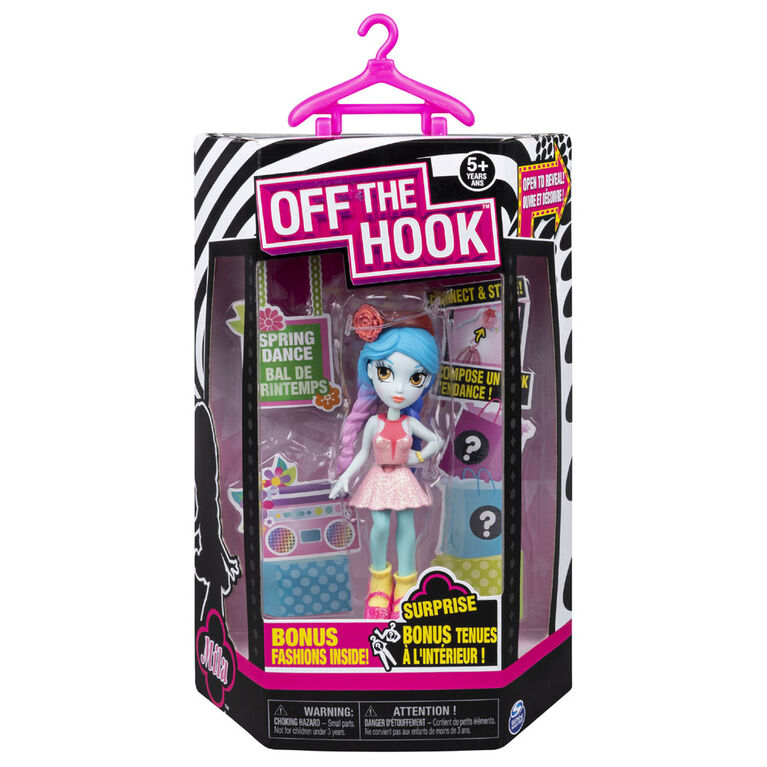 Off The Hook Style Doll, Mila (Spring Dance), 4-inch Small Doll with Mix and Match Fashions - R Exclusive
