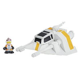 Star Wars Micro Force - Snowspeeder & Luke Skywalker.