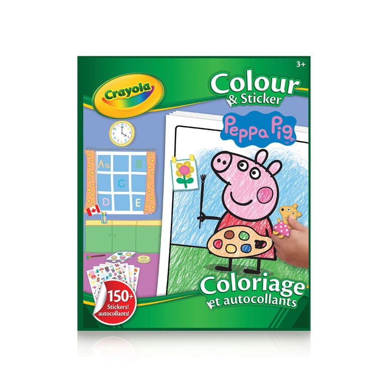 Crayola Colour & Sticker Book, Peppa Pig