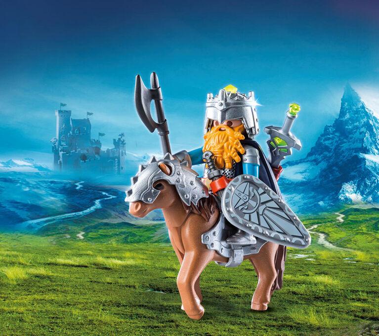 Playmobil - Dwarf Fighter with Pony