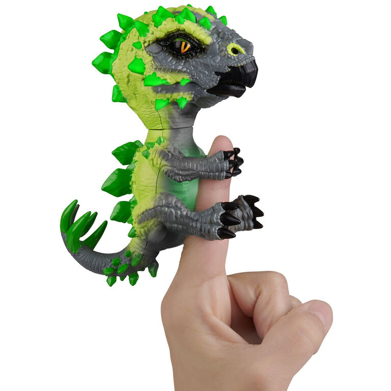 Untamed Radioactive Stegosaurus - Whiplash (Green)- Interactive Toy