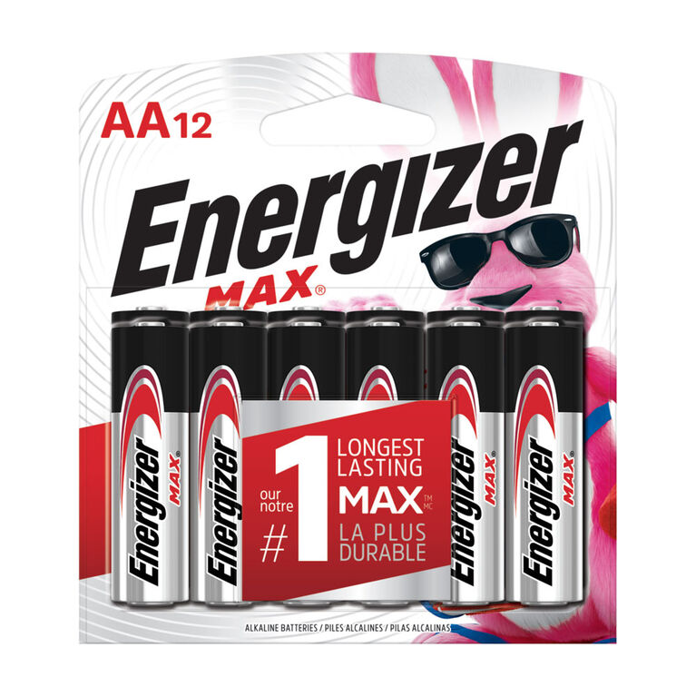 Energizer Max AA12 batteries