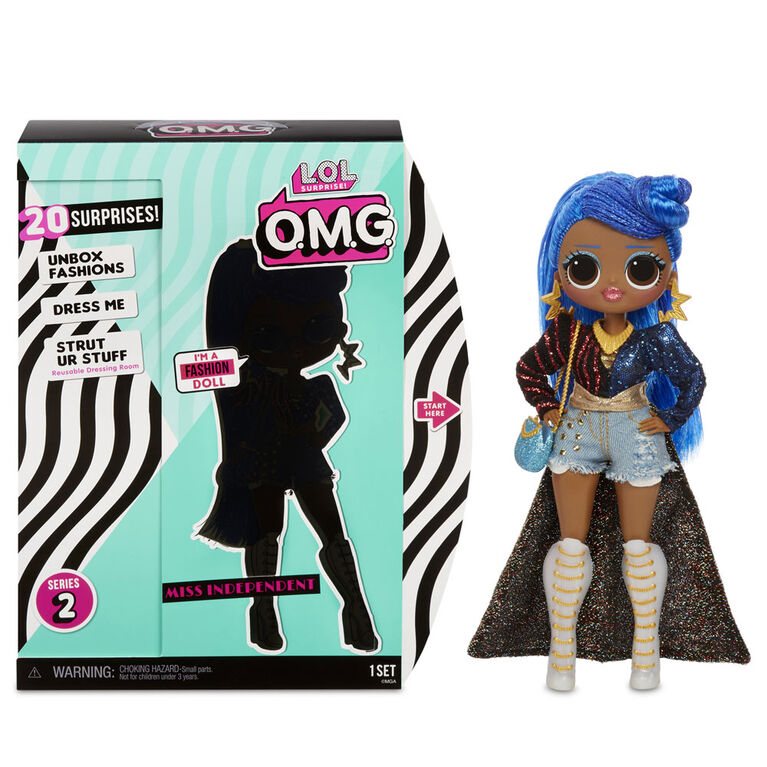 L.O.L. Surprise! O.M.G. Miss Independent Fashion Doll with 20 Surprises