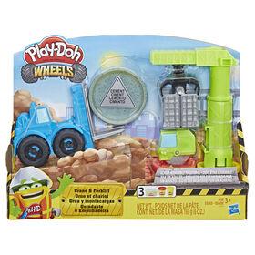Grue et chariot élévateur Play-Doh Wheels