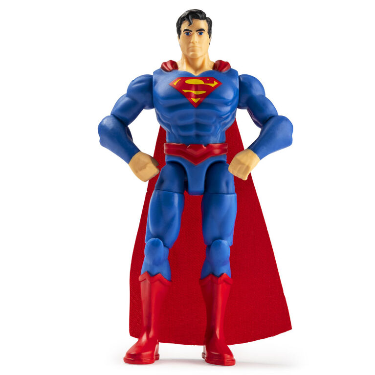 DC Comics 4-Inch Superman Action Figure with 3 Mystery Accessories, Adventure 2