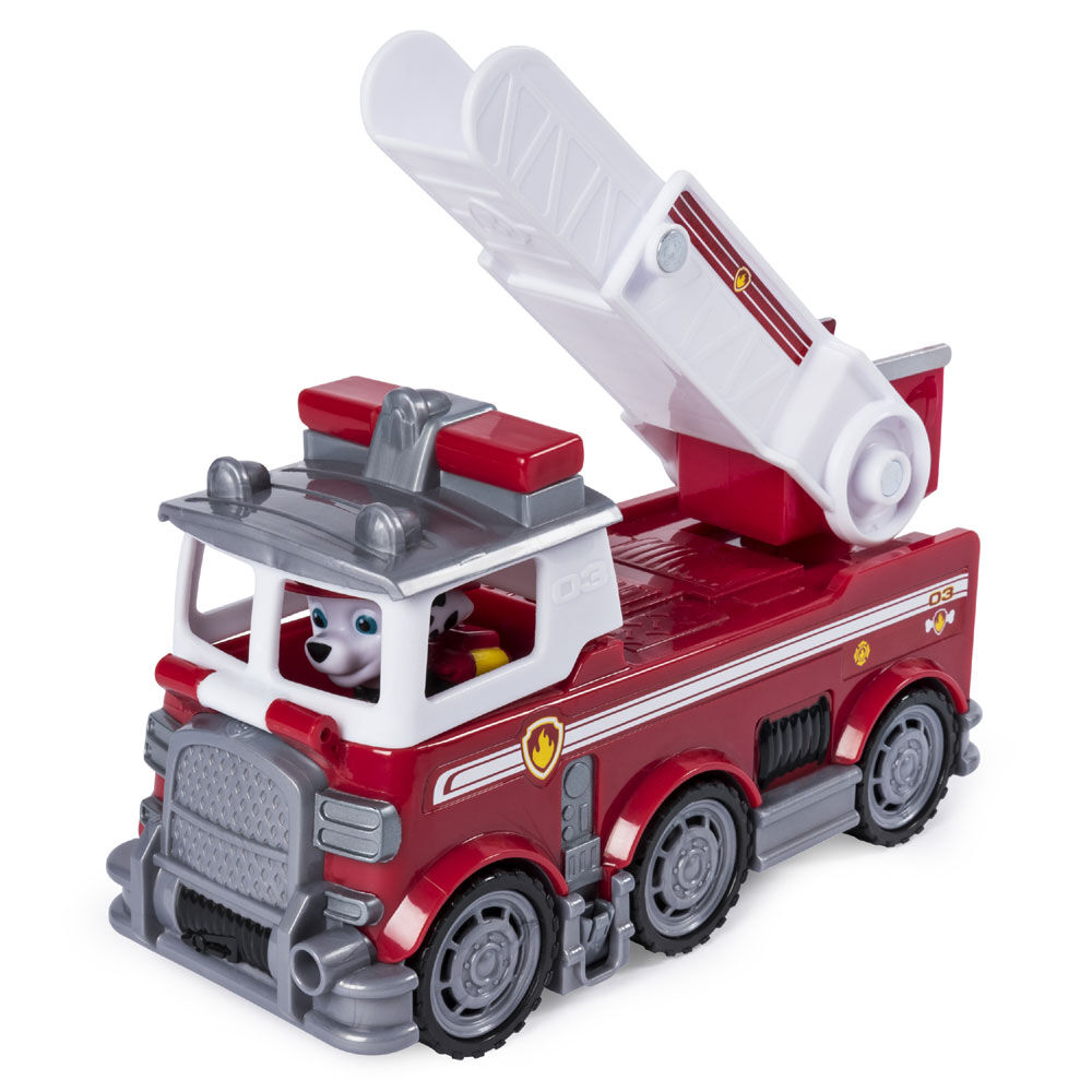 PAW Patrol Ultimate Rescue Marshall's Fire Truck with Moving Ladder /& Front Cab