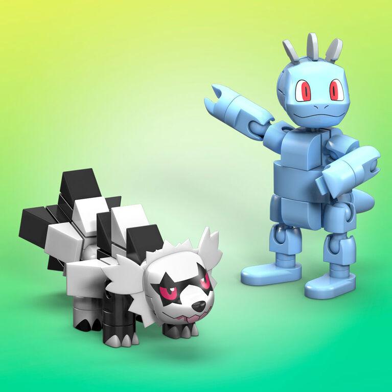Mega Construx Pokemon Machop Vs. Galarian Zigzagoon