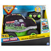 Monster Jam, Official Grave Digger Plush Remote Control Monster Truck with Soft Body and 2-Way Steering