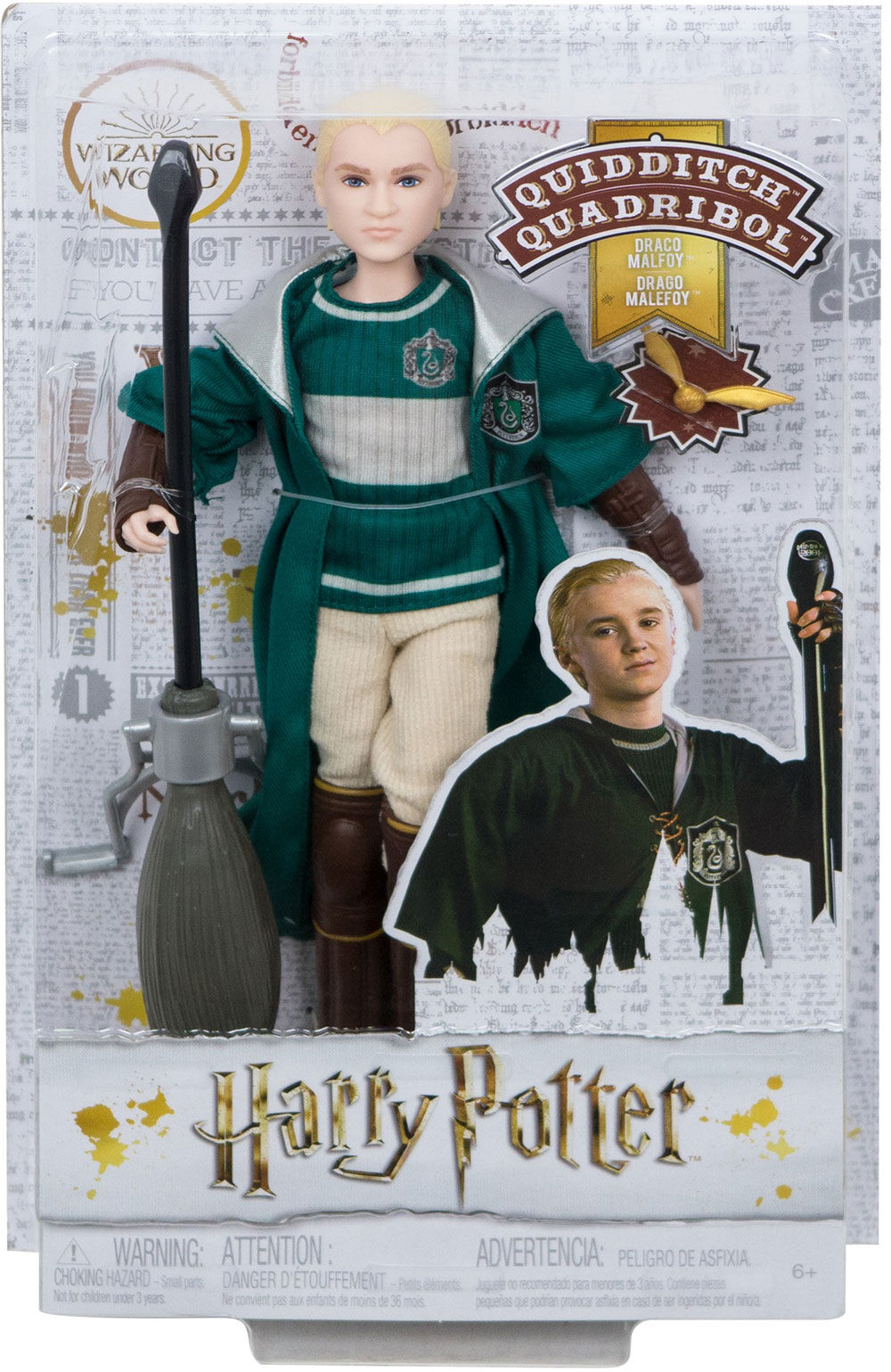 HARRY POTTER /& DRACO MALFOY QUIDDITCH SET HARRY POTTER COLLECTOR/'S