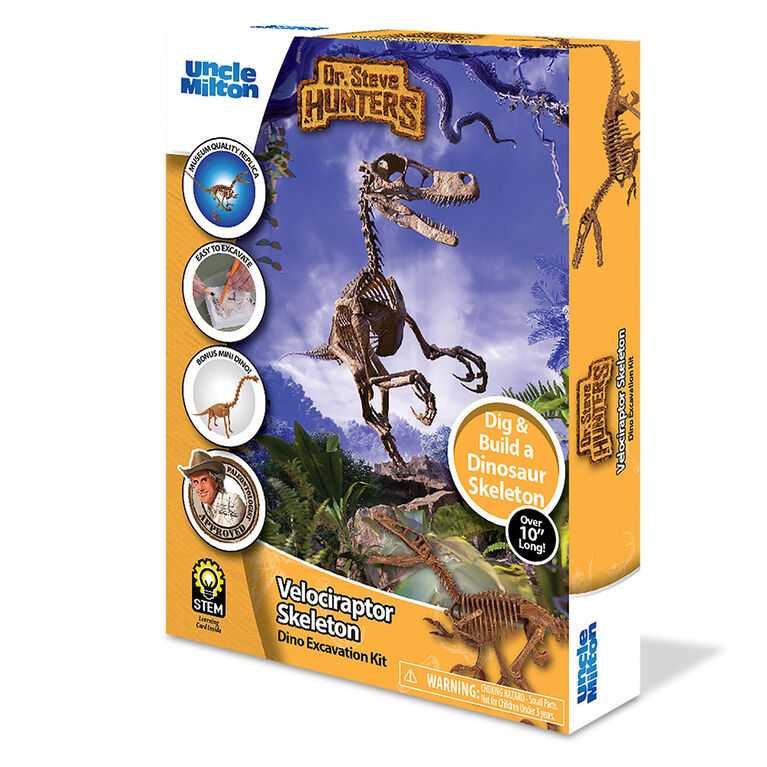 Dr. Steve Hunters - Dino Dig Excavation Kit - Velociraptor