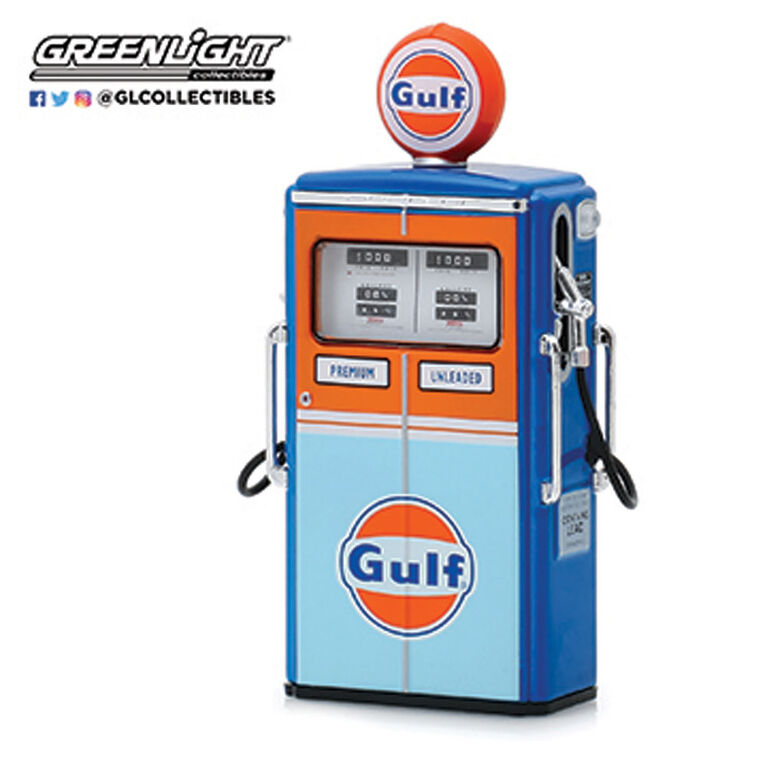 1:18 Vintage Gas Pumps Ast. - Gulf - Colours and styles may vary