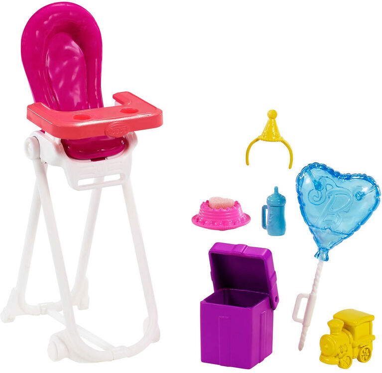 Barbie Skipper Babysitters Inc. Dolls & Playset with Babysitting Skipper Doll, Color-Change Baby Doll, High Chair & Party-Themed Accessories