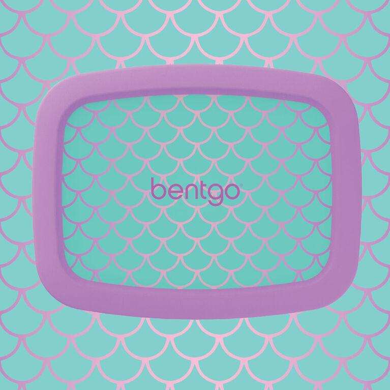 Bentgo Kids Prints - Leak-Proof, 5-Compartment Bento-Style Kids Lunch Box - Mermaid Scales