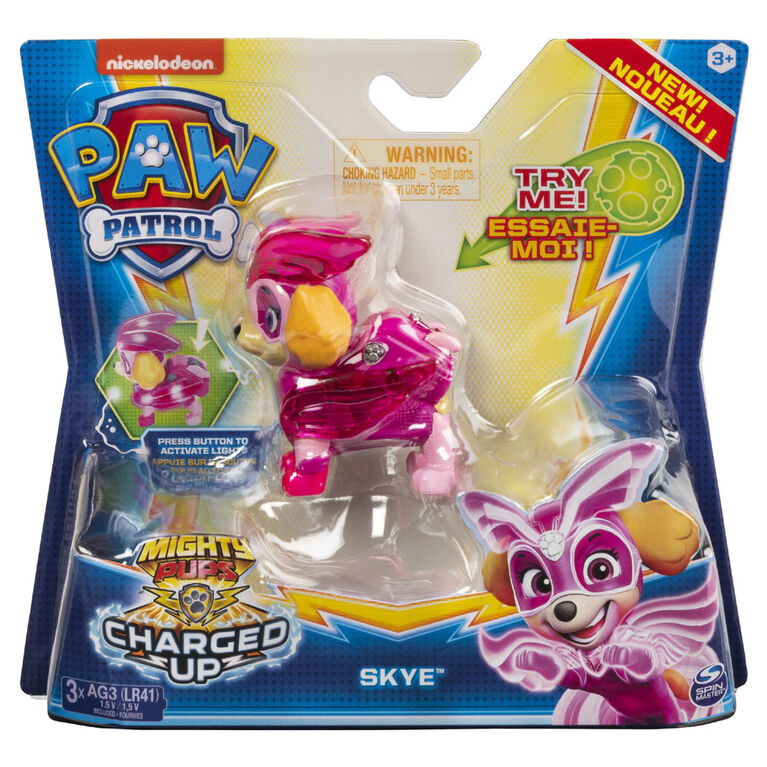Paw Patrol Super Pups Skye exclusive figure With Movable Pack /& Cape HTF