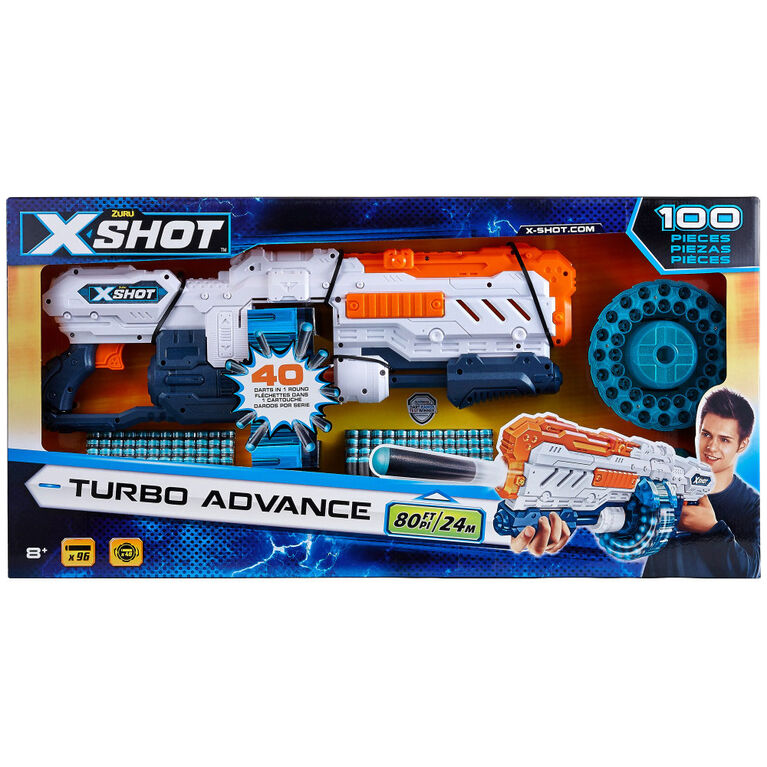 X-Shot Excel Turbo Advance Foam Dart Blaster