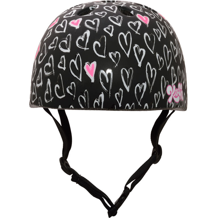 Krash - Sketchy Heartz Youth 8+ Bike Helmet - Red