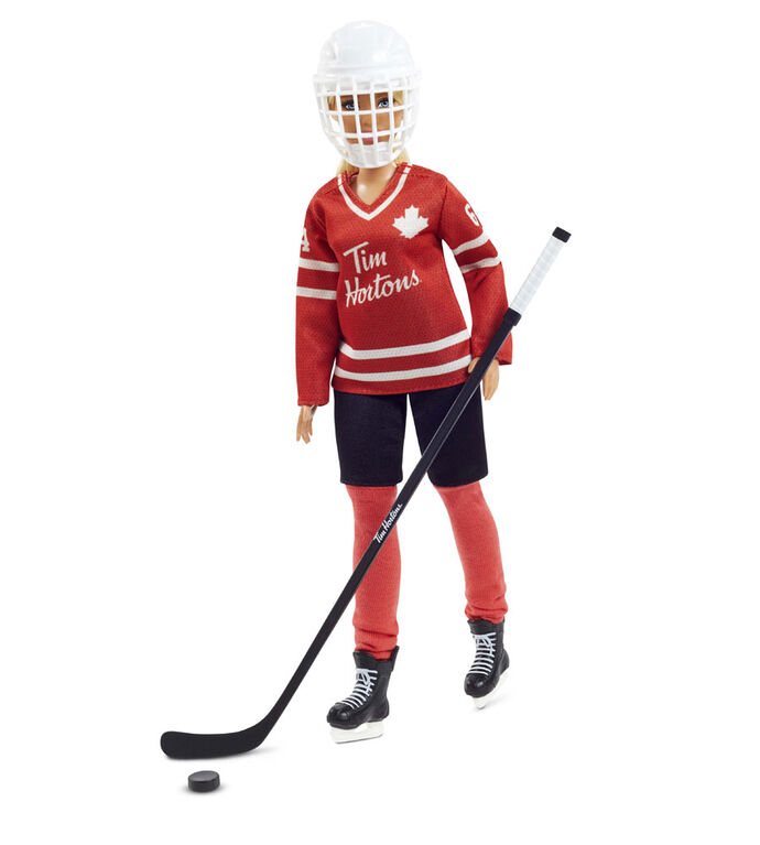 Poupée Barbie Tim Hortons de collection vêtue d'un uniforme de hockey