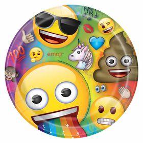 """Rainbow Emoji  9"""" Plates, 8 pieces"""