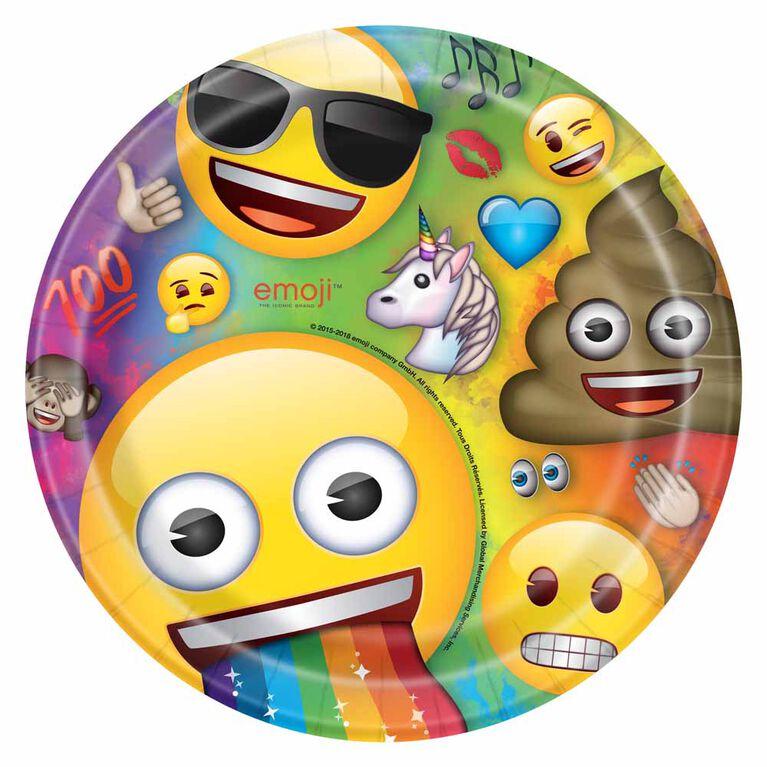 Rainbow Emoji Assiettes 9po, 8un