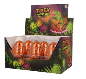 Nurchums - Large T-Rex Hatching Egg - Orange