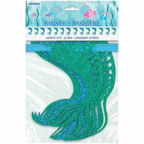 Mermaid Glitter Garland, 9 ft