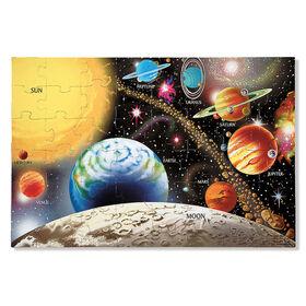 Puzzle de sol Melissa & Doug pour système solaire - 48 pièces, 60.96cm x 91.44cm