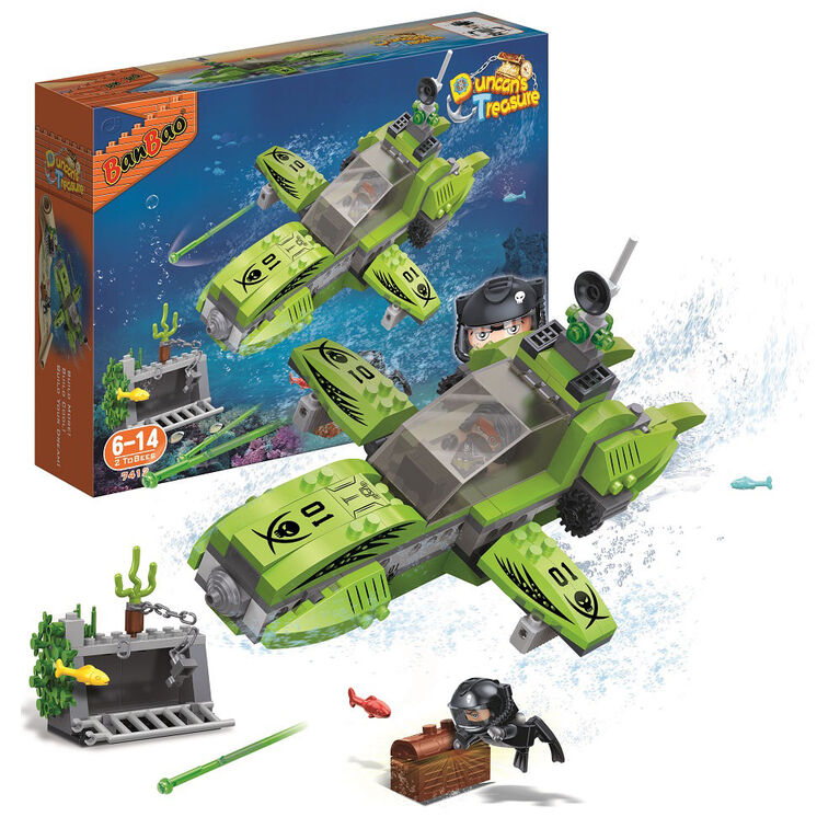 BanBao Duncan's Treasure - Green Submarine