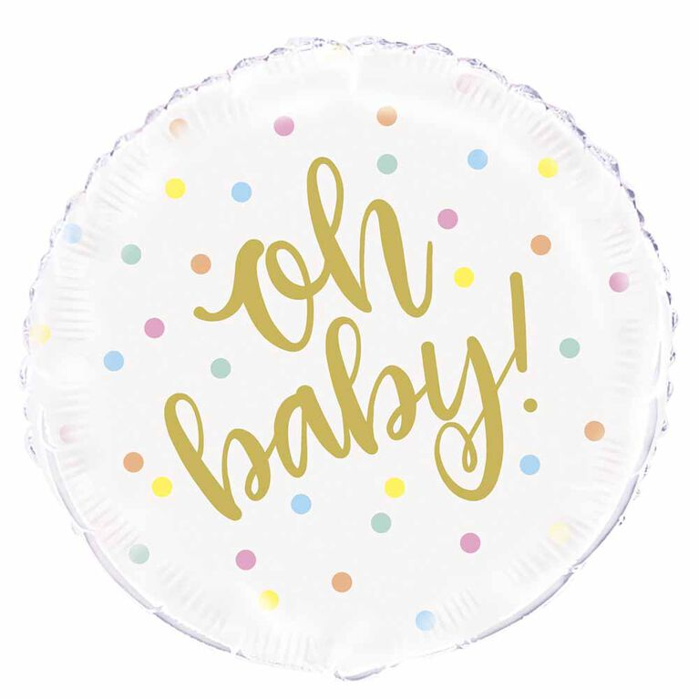 "Oh Baby"" Gold Baby Round Foil 18 - English Edition"