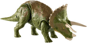 Jurassic World - Double Attaque - Figurine Tricératops.
