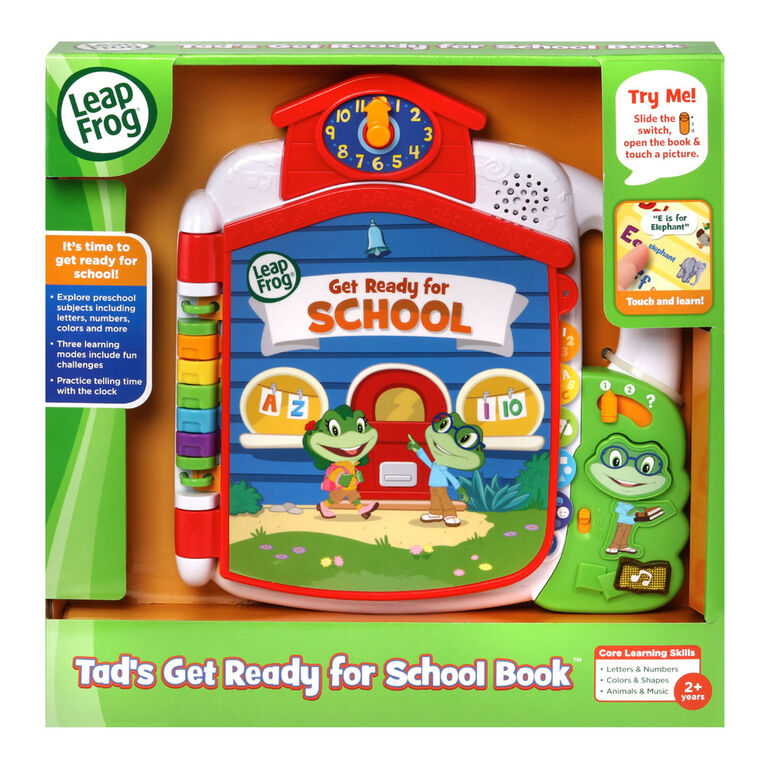 LeapFrog Tad's Get Ready for School Book - English Edition
