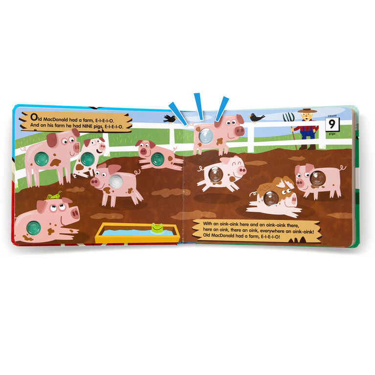 Melissa & Doug Children's Book - Poke-a-Dot: Old MacDonald's Farm - English Edition
