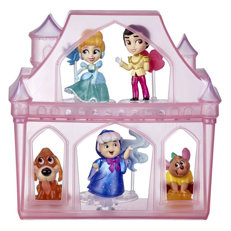 Disney Princess Comics, Aventures surprises de Cendrillon avec 5 poupées, accessoires et support, jouet amusant à déballer