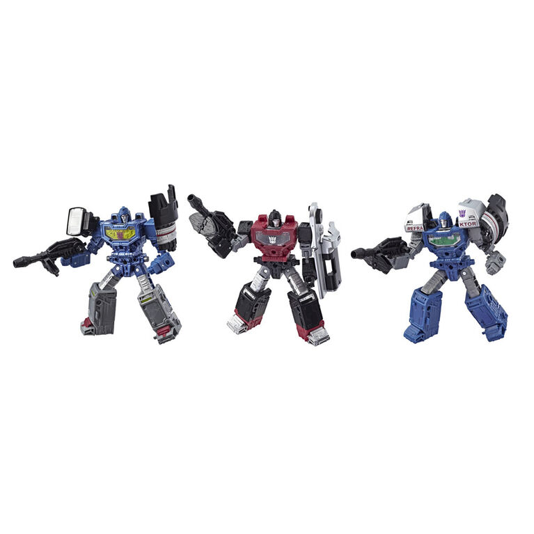 Transformers Generations War for Cybertron: Siege, trio de figurines Refraktor Reconnaissance Team - R Exclusif