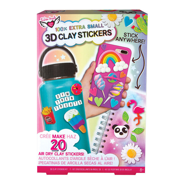 100% Extra Small 3D Mini Clay Sticker Kit
