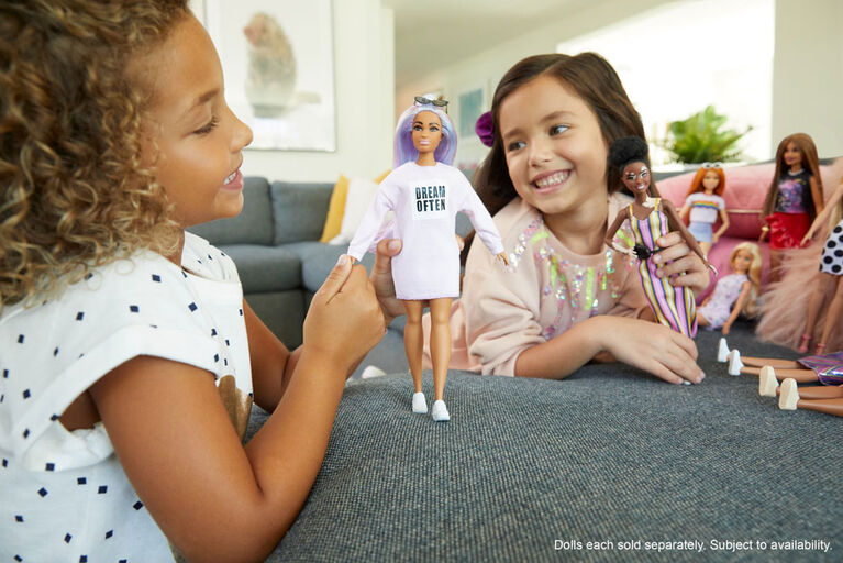 Barbie Fashionistas Doll #136 with Long Rainbow Hair