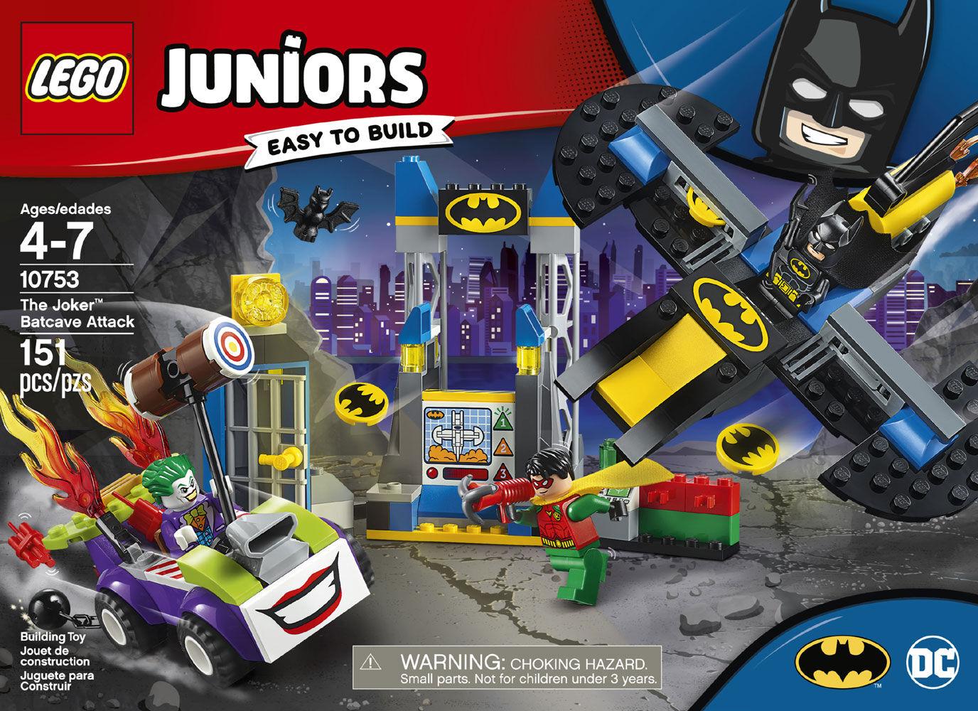 ans 10753 LEGO JUNIORS le joker une Batcave attaque 151 PIECES 4