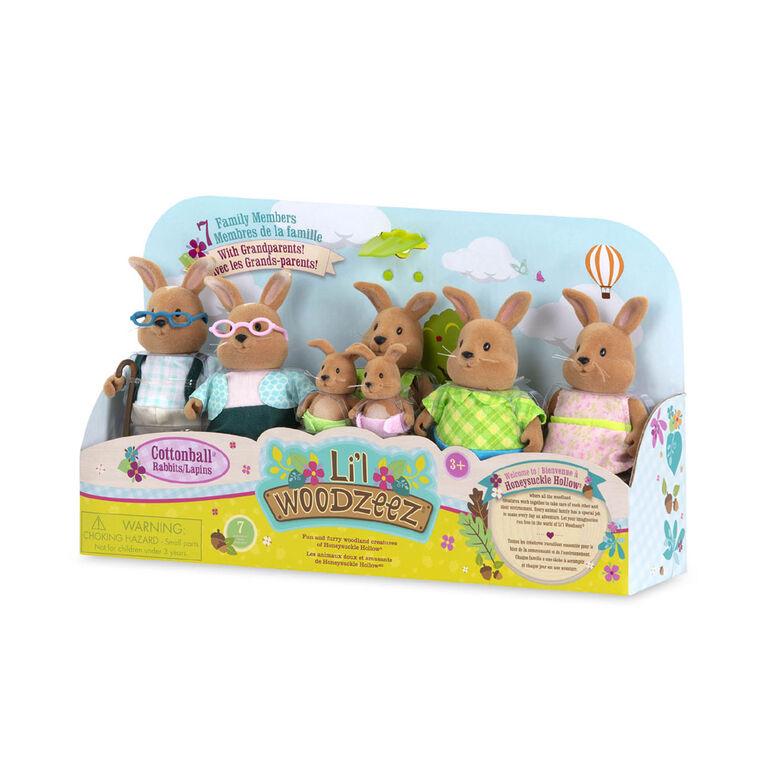 Li'l Woodzeez, Cottonball Rabbit Family
