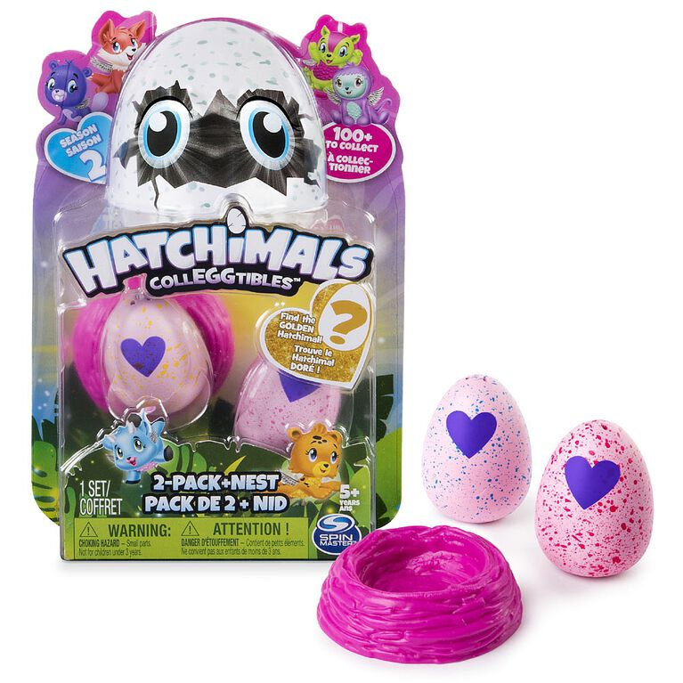 Hatchimals CollEGGtibles Season 2 - 2-Pack + Nest (Styles & Colors May Vary) by Spin Master