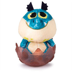 How to Train your Dragon, Baby Gronckle 3-inch Plush, Cute Collectible Plush Dragon in Egg