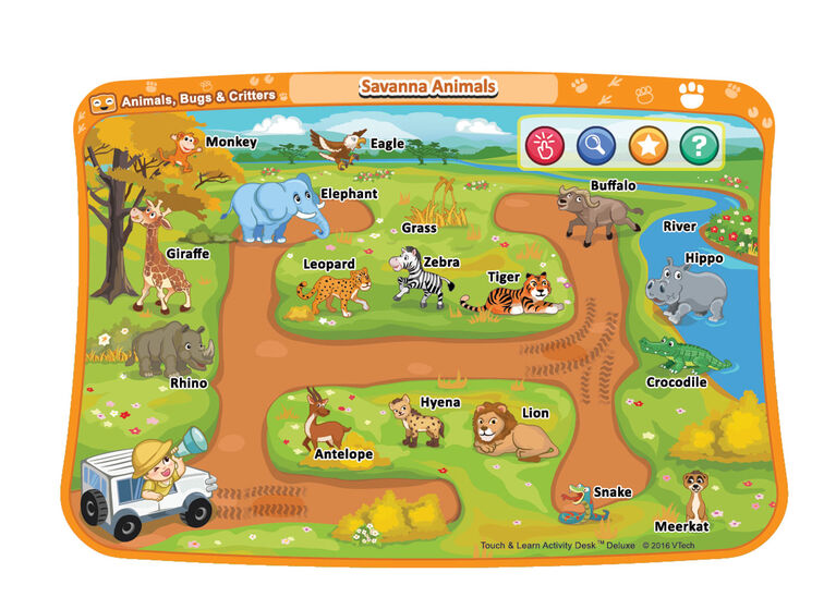 Touch & Learn Activity Desk Deluxe - Animals, Bugs & Critters - English Edition