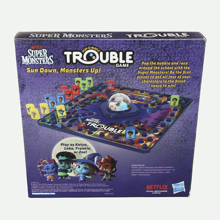 Hasbro Gaming Trouble: Netflix Super Monsters Edition Board Game