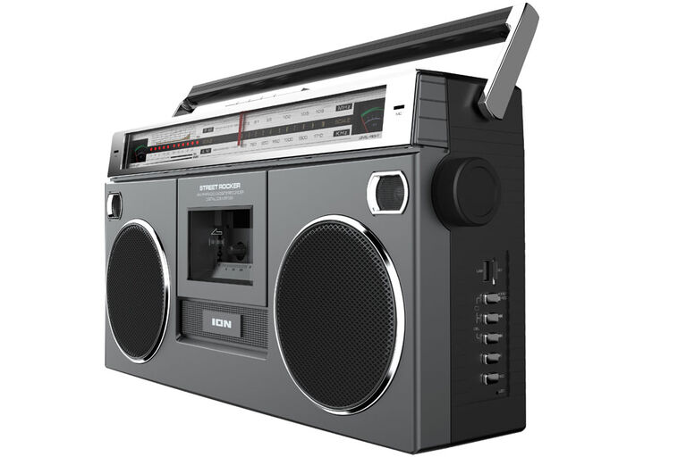 Boombox Ion Street Rocker SPR Retro Avec Platine Cassette