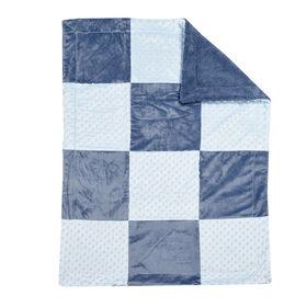 Koala Baby couverture de bebe- <br>Patchwork Bleu.