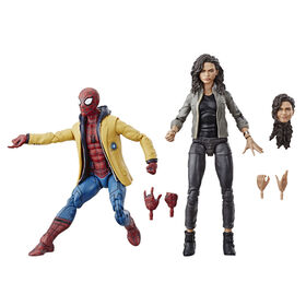 Marvel Spider-Man Legends Series: Homecoming Spider-Man & Marvel's MJ Collectible Figure 2-Pack - R Exclusive