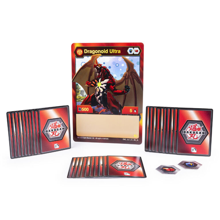 Bakugan, Deluxe Battle Brawlers Card Collection with Jumbo Foil Nillious Ultra Card
