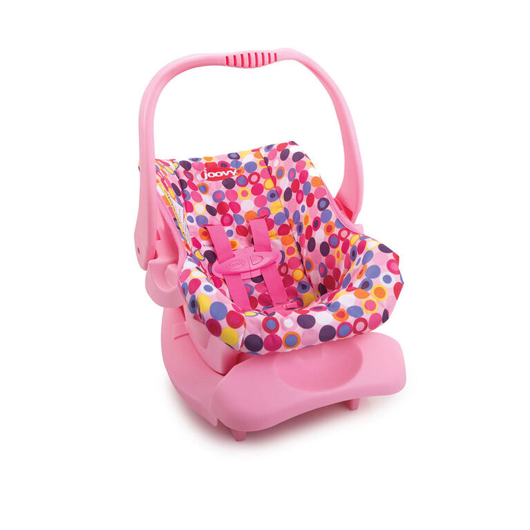 Joovy Doll Toy Infant Car Seat - Pink