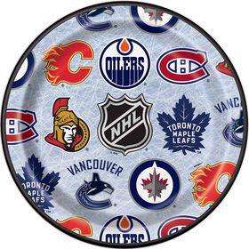 """NHL Fans  9""""  Plates, 8 pieces"""