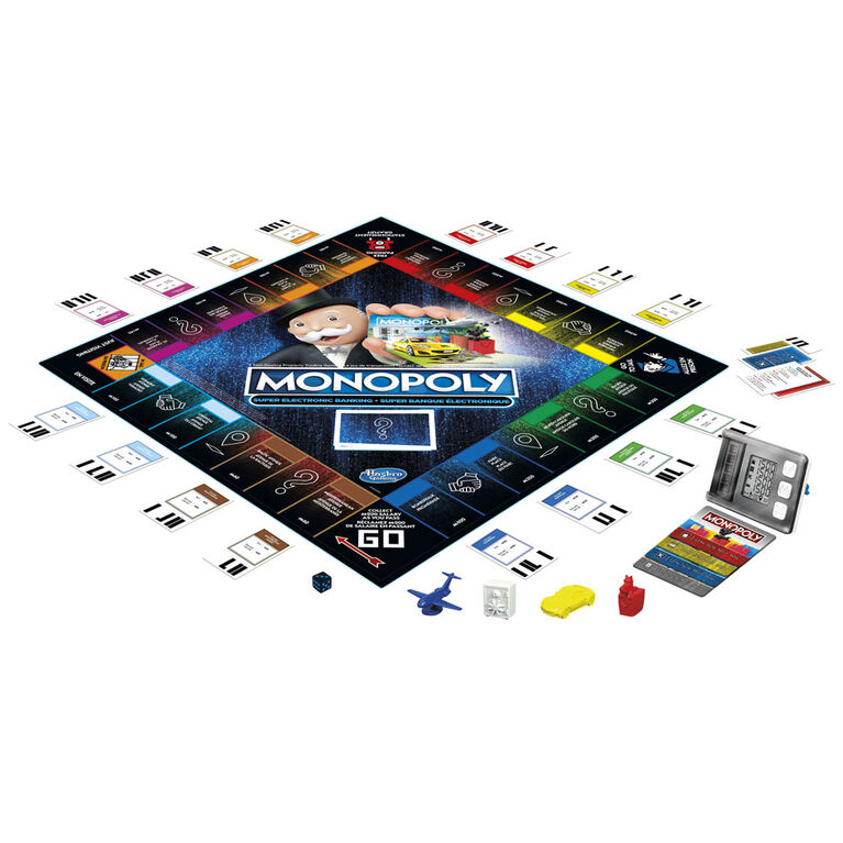 Monopoly Super Electronic Banking Board Game, Electronic Banking Unit, Choose Your Rewards