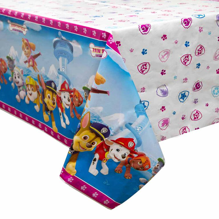 "Paw Patrol Pink Table Cover 54""x84"""